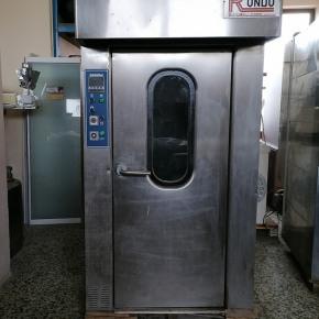 Φούρνος αερόθερμος περιστροφικός ενός καροτσιού της εταιρίας Zucchelli forni